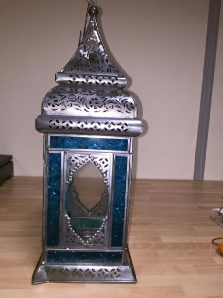 Moroccan style Large Indian glass lantern